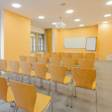 Conference room with whiteboard, digital projector & flipchart