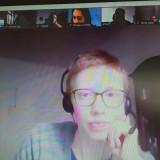 Ida Forbringer, Teil des Projektteams »Was geht mich das an?« im Erinnerungsort Topf & Söhne Erfurt, während des Online-Seminars