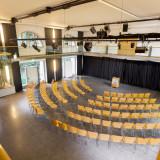 Der Saal im »Reithaus«. 280m² für max. 180 Personen je nach Bestuhlungsart