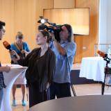 Teilnehmer der Jugendbegegnung im Interview mit dem ZDF