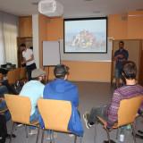 Syrische Kollegen leiten den Workshop »Reise des Todes« über die Flucht aus Syrien