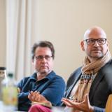 Arbeitsgruppentreffen »Weimarer Erklärung«, Prof. Dr. Jörg Ganzenmüller (Stiftung Ettersberg) und Ricola-Gunnar (Gedenkstätte Buchenwald) v.l.n.r.