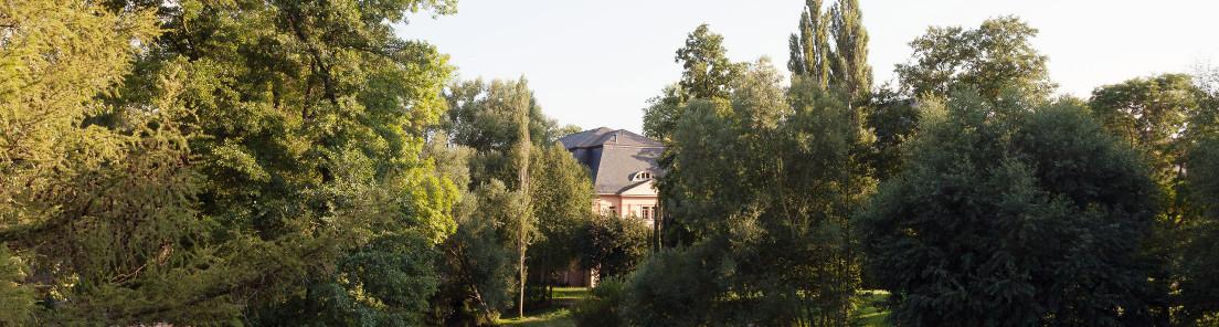 Das historische »Reithaus« im Park an der Ilm